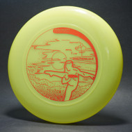 Sky-Styler www.frisbee.co.il Leg Delay Bright Green w/ Metallic Red - T2000s - Top View