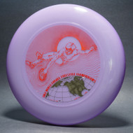 1982 World Freestyle Frisbee Championships Austin TX Purple w/ Red Matte and Metallic Gold - T80 - Top View