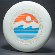 Sky-Styler FPA 1980 NA Flying Disc Championships White w/ Metalllic Gold, Blue Matte, and Red Matte - TR - Top View