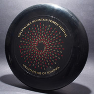 Sky-Styler United Flyers of Sonoma (UFOs) 84 Sonoma Mountain Frisbee Festival Black w/ Red Matte and Metallic Gold - T80 - Top View