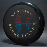 Sky-Styler Newport Rhode Island Black w/ Red Matte; Gold and Blue Foil (3 color) T80 Top View