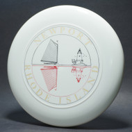 Sky-Styler Newport Rhode Island White w/ Red and Black Matte; Metallic Gold Lettering (3 color) T80 Top View