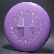 Sky-Styler Newport Rhode Island Purple w/ White and Black Matte; Metallic Gold Lettering (3 color) T80 Top View