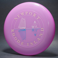 Sky-Styler Newport Rhode Island Pink w/ White and Black Matte; Metallic Gold Lettering (3 color) T80 Top View