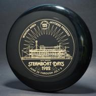 Sky-Styler Winona Mn 1982 Steamboat Days Black w/ Metallic Gold - T80 - Top View