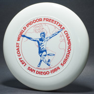 Sky-Styler Left Coast WIFC 1984 White w/ Blue and Red Matte T80 Top View