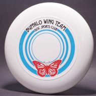 Sky-Styler Buffalo Wing Team Disc Sports Club White w/ Blue, Black, and Red Matte - T80 - Top View