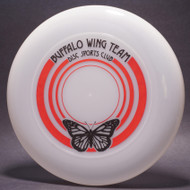 Buffalo Wing Team Disc Sports Club Clear w/ Red and Black Matte - T80 - Top View