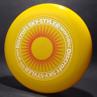 Sky-Styler Sun Yellow w/ Red Matte Sun and Metallic Gold Ring - TR - Top View