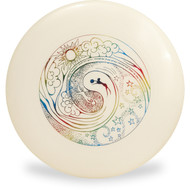 Discraft GLOW ULTRA STAR - YIN YANG Design Ultimate Frisbee Disc Top View