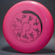 Sky-Styler www.frisbee.co.il Freestyle Checklist Bright Pink w/ Black Matte - T2000s - Top View