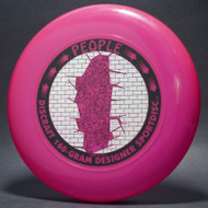 Sky-Styler Discraft People Bright Pink w/ Metallic Silver Sparkle Prism Brick and Black Matte People - T90 - Top View