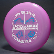 Sky-Styler 1987 10th Australian Flying Dic Championships Purple w/ Metallic Blue and White Matte - T80 - Top View