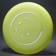 Sky-Styler FPA 2002 Tour Disc Bright Yellow w/ Metallic Silver - T80 - Top View