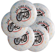 RECYCLED FAT TIRE FLYER ULTIMATE FRISBEE DISC SIX PACK