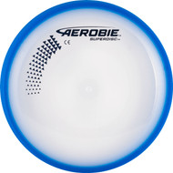 Aerobie SUPERDISC Flying Disc - Super Accurate & Stable. Shows top view of blue disc.