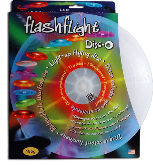 Nite Ize FLASHFLIGHT DISC-O - LIGHT UP Flying Disc LED Frisbee - Glow in the Dark Play