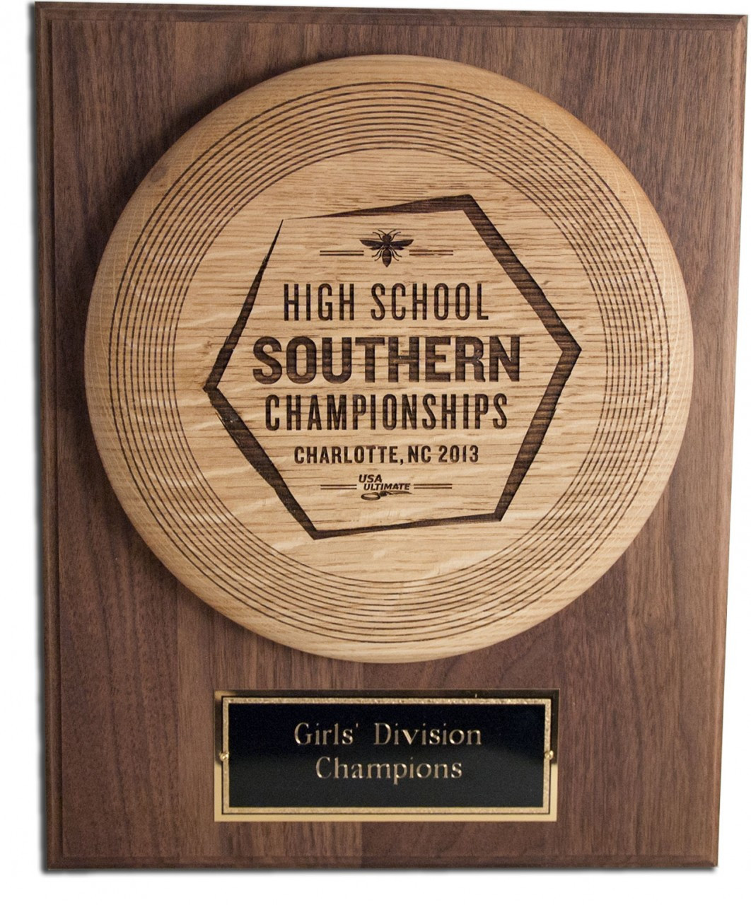 CUSTOM ENGRAVED WOOD ULTIMATE TROPHY WITH PLAQUE