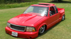 94-01 Chevy/GMC S10 & Sonoma Ext Cab Sliding Ragtop Folding Sunroof Kit Installed Side