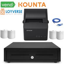 EPSON TM-T82IIIL ETH Printer MPOS410 Cash Drawer Bundles for VEND KOUNTA LOYVERSE