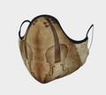 Brown Violin Face Mask - Violin Duet - Violin Face Cover - Made in Canada