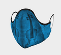Violin Face Mask - Blue Violin Duet - Violin Face Covering - Made in Canada