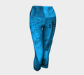 Blue Violin Yoga Leggings Capris - Made in Canada | Compression Leggings Made of Performance Knit Fabric