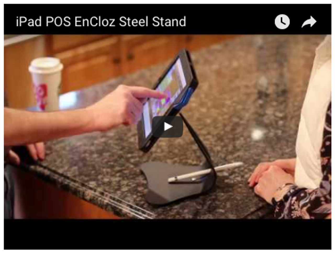 iPad Anti-Theft Security Flip Signature POS Stand