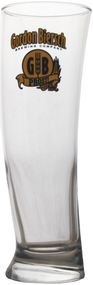 Although the Sydney glass looks most similar to a classic Pilsner glass, any of our beers can be enjoyed in this curved glass design. Holds 16 oz and is adorned with the vintage golden Gordon Biersch logo. Sold individually.
