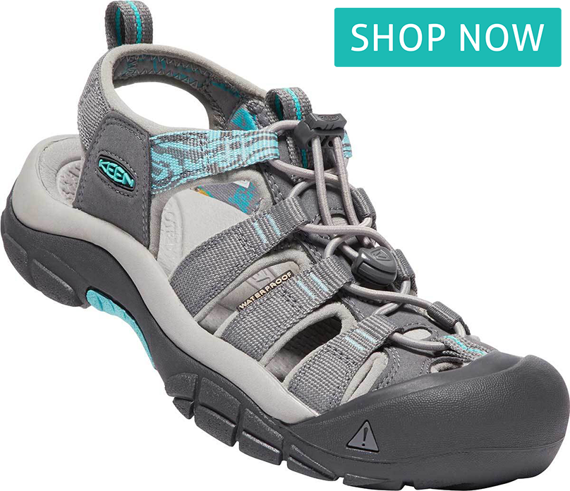 KEEN Women's Newport Hydro in Steel Gray/Blue Turquoise