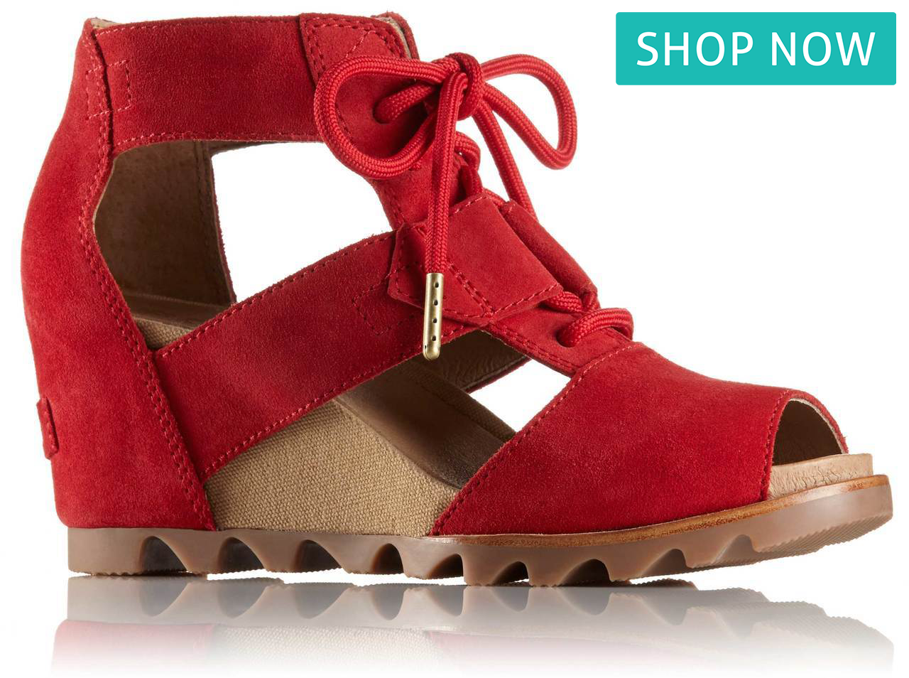 Sorel Joanie Lace in Bright Red