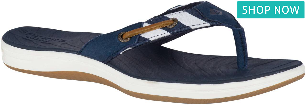Sperry Women's Seabrook Breton Stripe in Navy/White