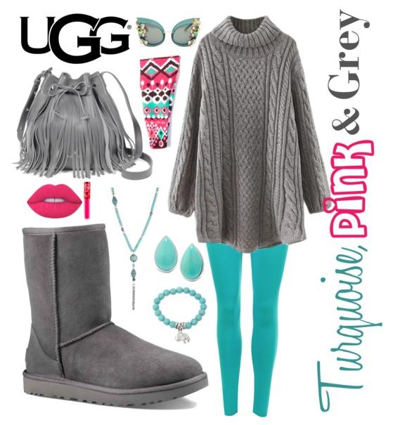 ugg classic short gray