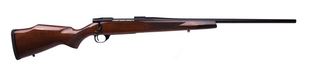 "Weatherby - 257WbyMag - Vanguard Sporter Deluxe - High Gloss ""A"" Turkish Walnut/Matte Blued, 24""Barrel, Rosewood forend cap, 1:10"