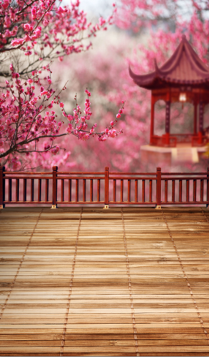 Spring Pagoda Backdrop