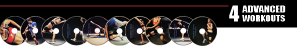 4 Kbands Burn Advanced DVD Workouts