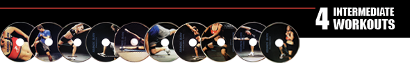 4 Kbands Burn Intermediate DVD Workouts
