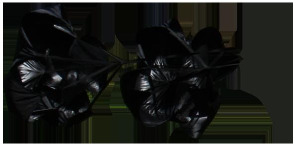 54 Inch Dual Running Parachutes