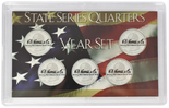 "Frosted 3"" x 5"" Case for State Quarters (5 holes)"