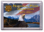 "Frosted 2"" x 3"" Case for National Park Quarters Flag and Eagle (2 Holes)"