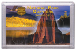 "Frosted 3"" x 5"" Case for National Park Quarters Rock and Eagle (6 Holes)"