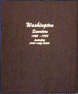 Dansco Album #8140- Washington Quarters 1932-1998 with Proof