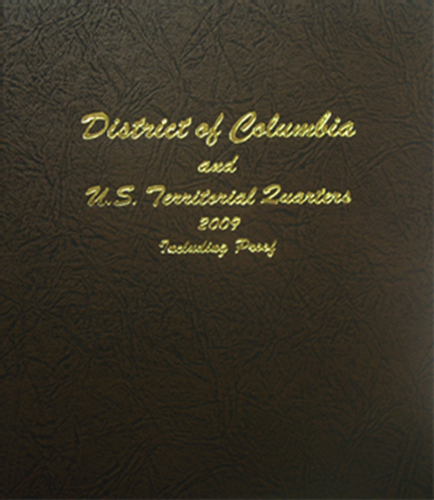 Dansco Coin Album # 7144 For D.C /& Territorial Quarters 2009 Without Proofs