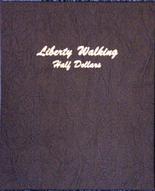 Dansco Album #7160- Liberty Walking Half Dollars 1916 -1947