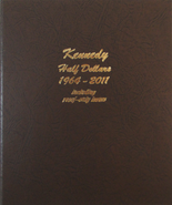 Dansco Album #8166- Kennedy Half Dollars 1964-2012 with Proof Vol.1