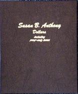 Dansco Album #8180- Susan B. Anthony Dollars 1979-1999 with Proof