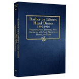 Whitman Album #9117 - Barber & Liberty Head Dimes 1892-1916