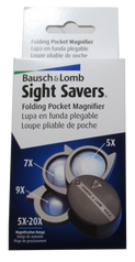 Bausch & Lomb Pocket Magnifier Three lenses 5X - 20X