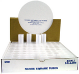 Numis Square Tubes for Presidential Dollars - Pack of 100