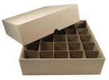 Box for Large Dollar Tubes-Tan-Holds 25 Tubes